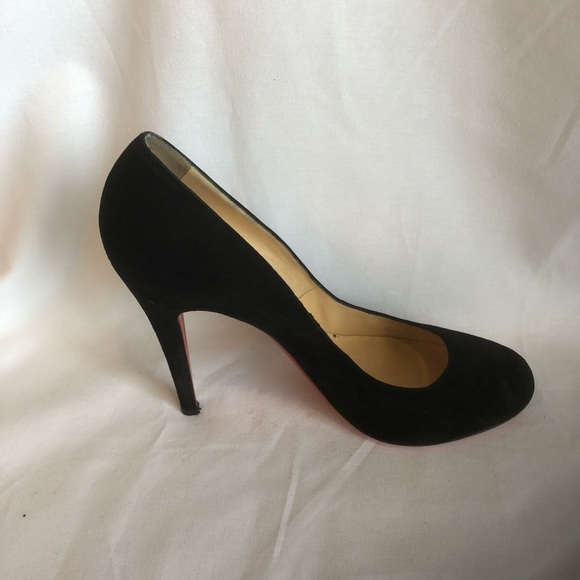 27a4ad296d9d Christian Louboutin Shoes - Round Toe Black Suede Pump (EUR 39)